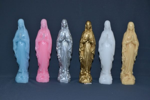 Ensemble Vierge Marie en cire grand modèle