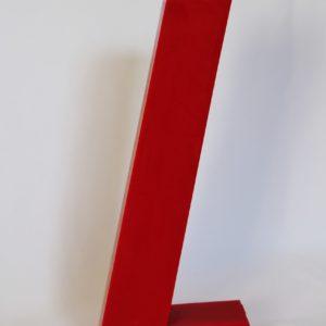 Bougie futuriste rouge