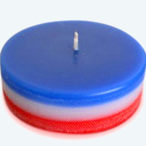 Bougie de palet de Hockey Bleu Blanc Rouge
