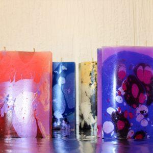 Bougies décoratives Vague unies