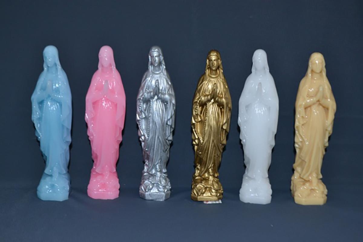 bougies religieuses vierges Marie