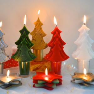 les bougies sapins